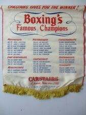 1952 CARSTAIRS WHISKEY BOXING FAMOUS CHAMPIONS BANNER JOE LOUIS JACK DEMPSEY