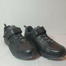 Dr. Comfort Winner Men's 10.5 W Black Hook & Loop Strap Diabetic Shoes #5710