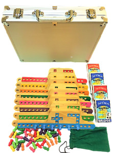 Pegs and Jokers 8 Players Pine Wood Pegs Boards FREE 4 Special Decks Alumin Case
