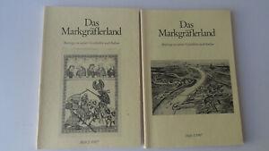 2 Hefte-Das Markgräflerland-Beiträge zu seiner Geschichte u.Kultur-Heft 1-2-1987