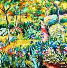 Claude Monet - Monet´s Garten in Giverny g94015 80x80cm exzellentes Ölgemälde