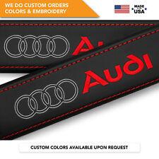 Seat Belt Covers Shoulder Strap Leather Pads Custom Made Fits Audi Rings 2PCS