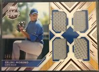 ERLING MORENO 2018 Elite Extra Edition Quad Materials #/399 Chicago Cubs RC