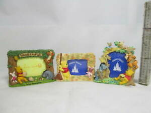 Tokyo Disneyland Tdl Winnie The Pooh Pottery Photo Frame Bald And Good Look.