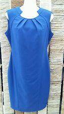 KARDASHIAN KOLLECTION Blue Sleeveless Shift Dress Size 12