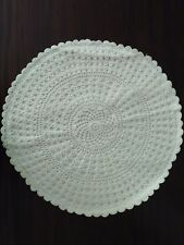 """Crochet full lace cushion cover size 16"""" color white Handmade"""