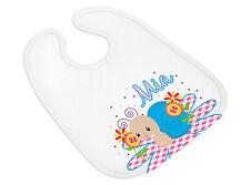 Babylätzchen 843 AHOI Name und Themenbild personalisiert Spucktuch Name