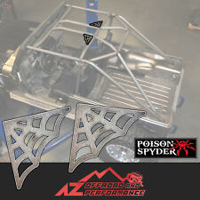 Poison Spyder Cage Gussets 90 Degrees Web Design Universal Weld on Set of 2