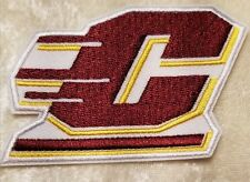 "Central Michigan Chippewas Maroon 3"" Iron On Embroidered Patch ~FREE Ship!!"