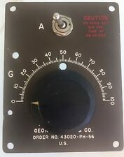 VINTAGE GEORGE VORON & CO ORDER NO.43020-PH-56 U.S HAMMARLUND RADIO FACE PLATE