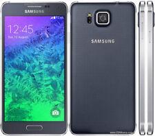Téléphones mobiles bluetooth noirs Samsung Galaxy Alpha