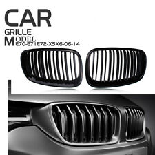 For BMW X5 X6 E70 E71 09-13 Front Grille Grill Kidney Cover Vent Left + Right