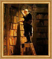 Der Bücherwurm Carl Spitzweg Bibliothek Bibliothekar Lesen Bütten H A3 0136