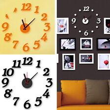 Wandtattoo mit Uhrwerk Ziffern Punkten Vögel Aufkleber Uhr 12 Stunden Moosgummi