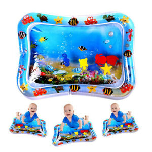 Large Inflatable Baby Water Play Mat Infants Toddlers Kid Perfect Fun Tummy Time
