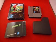 Golf (Nintendo NES, 1985) COMPLETE w/ Black Box manual game WORKS!