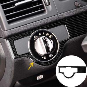 1PC Carbon Fiber Headlight Switch Trim For Mercedes-Benz C Class W204 2007-10