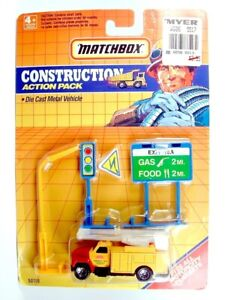 MATCHBOX / Utility Truck (Yellow) / CONSTRUCTION ACTION PACK.