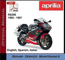 Aprilia RS250 RS 250 1995 - 1997 Workshop Service Repair Manual