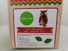 "Cate & Levi DIY Stuffed Animal Making Kit - Hoo's the Maker 10"" Owl Plush #C240"