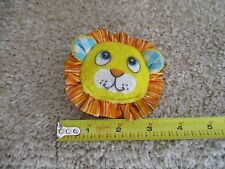 FISHER PRICE Doll Plush Puffalump Lion cat hand rattle Vintage Wrist Baby toy