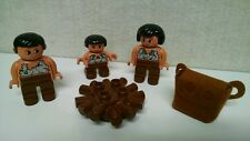LEGO DUPLO - DINO VALLEY 5598 - Caveman Woman Girl Child Campfire Logs Backpack