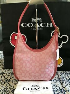 Coach Ergo Medium Shoulder Bag In Signature Jacquard C2588 Taffy