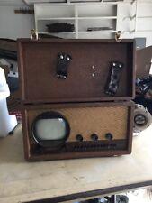 Vintage 1940's Hallicrafters Tabletop Tube TV Antique WW2 Era