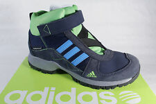 Adidas Boots Waterproof Leather/Textile Blue/Green Climaproof New