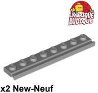 Technic Brick 1x2 Axle Hole NEW 10 x LEGO 32064 Brique Axe Trou gris foncé