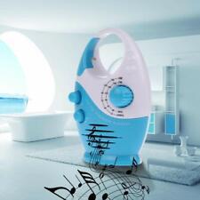 Mini AM FM Music Bathroom Shower Radio Set Waterproof Hanging Built-in Speaker