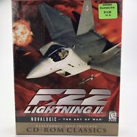 F-22 Lightning II The Art Of War PC CD-ROM Big Box Vintage Gaming 1999 Sealed