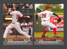 2013 Great Lakes Loons Team Set - COREY SEAGER & JULIO URIAS (RC) - LA DODGERS
