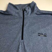 Polo Sport Performance Men's ¼ Zip Jacket XXL 2XL Blue Logo Polyester Casual