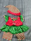 Build a Bear Elf dress and hat outfit  vgc