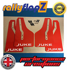 RallyflapZ para Nissan Juke Nismo (2013+) las aletas de barro Qty4 rojo juke Blanco 4mm PVC