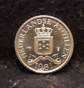 1981 Netherlands Antilles (Caribbean) cent, bright UNC, KM-8a
