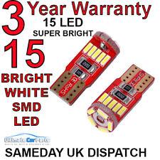 2 X 501 T10 CANBUS FREE LED BULBS 15 SMD ERROR FREE SIDELIGHT BULBS UK COMPANY