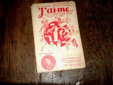 J'aime... chanson fox-trot succès de Fabris et Saint Granier 1922 Attic