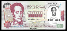 World Paper Money - Venezuela 1000 Bolivares 1998 Ovpt Maracaibo 1st Convention