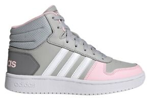 Scarpe da donna Adidas GZ7772 sneakers alte sportive tennis ginnastica grigio