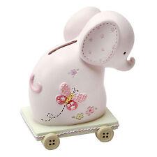 Boxed BABY PINK ELEPHANT Money Bank Box - New Baby Girl