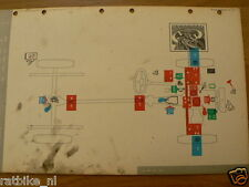 FIAT 1100,1200, MOBIL OIL LUBRICATION CHART 1961