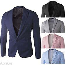 Uomo Blazer adulti Smart Slim Fit Blazer Cappotto Cena Suit Giacca Nuovo M-3XL