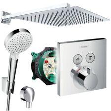 Unterputz Duschsystem mit Kopfbrause 300x300, Hansgrohe Shower Select Thermostat