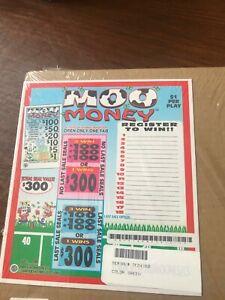 """Moo Money"" 1 Window Pull Tab 780 Tickets Profit $160  Free Ship USA *48"