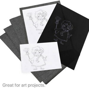 Carbon Paper Transfer Copy Black 100 Sheets Graphite Tracing A4 Wood Canvas Art