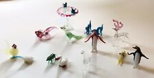 Vintage Miniature Blown Glass Animal Figurines Collection Made In Occupied Japan
