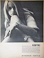 PUBLICITÉ DE PRESSE 1966 MONTRES KONTIKI ETERNA MATIC - ADVERTISING