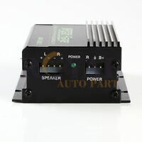 Road Rage 150Watt 2-Channel Mini High Power Amplifier with USB Charger Output